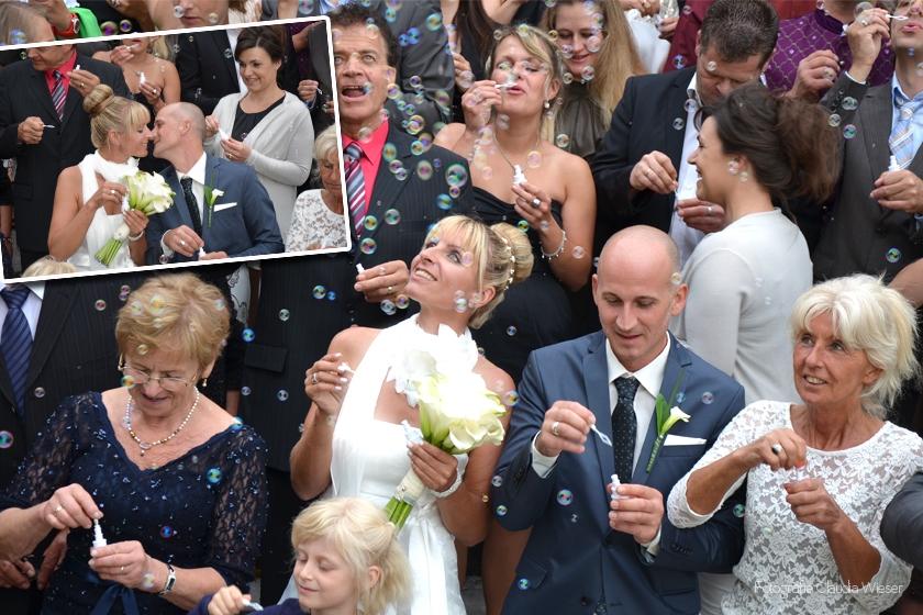 Hochzeitsgruppenfoto